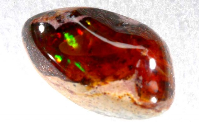 13.8 CTS MEXICAN FIRE OPAL MATRIX CAB LO-4226