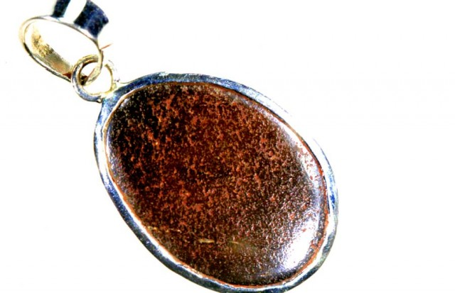 18CTS BOULDER OPAL STERLING SILVER PENDANT OF-