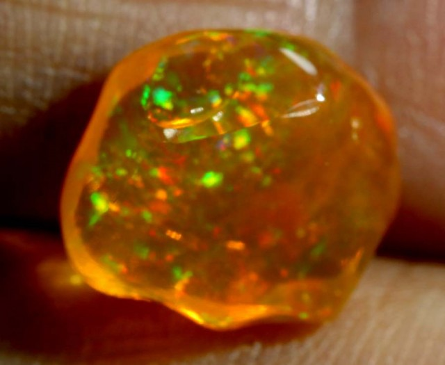 3.1 CT Polished Mexican Fire Opal TBO-6245