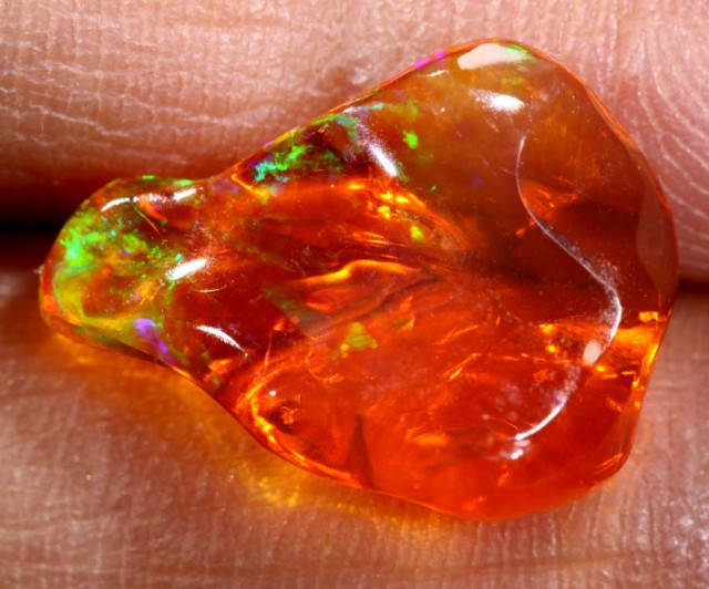 2.8 CT Polished Mexican Fire Opal TBO-6246