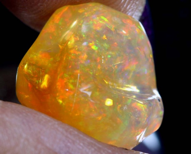 6.8 CT Polished Mexican Fire Opal TBO-6247