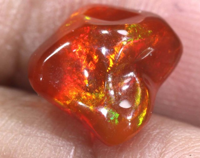 2.3 CT Polished Mexican Fire Opal TBO-6250