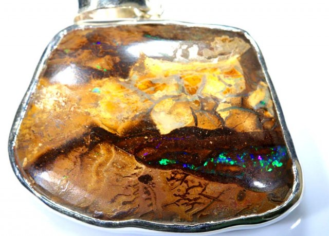 70 CTS BOULDER OPAL STERLING SILVER PENDANT OF-1892