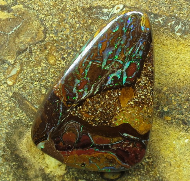"""19cts.""""BOULDER MATRIX OPAL~FROM OUR MINES"""""""