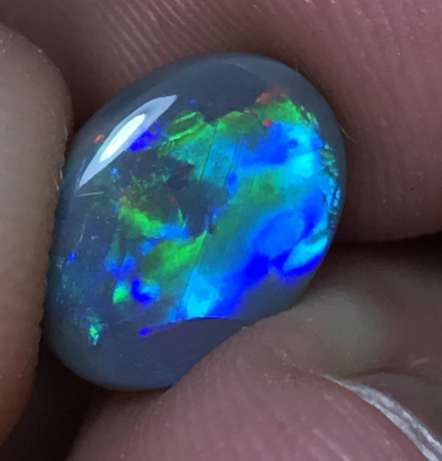 2.38ct Lightning Ridge Semi Black Opal LR177