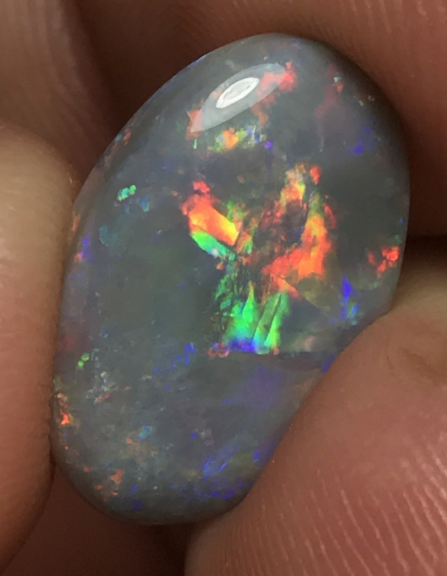6.18ct Lightning Ridge Gem Dark Opal LR195