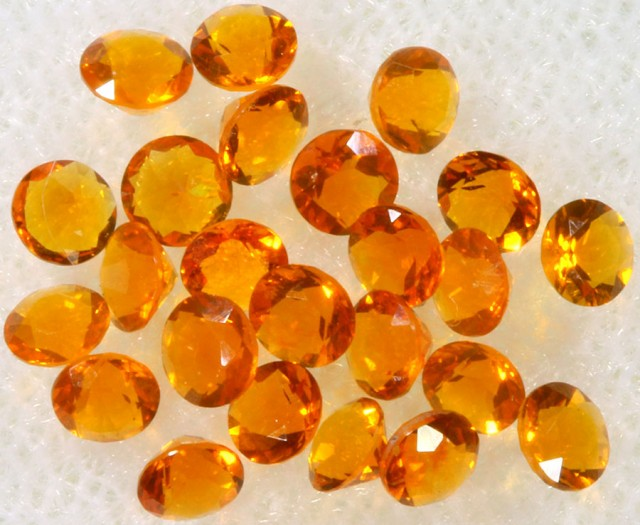 1.15 CTS  RED MEXICAN FIRE OPAL PARCELS -FACETED-TOP POLISH. [VS7596]