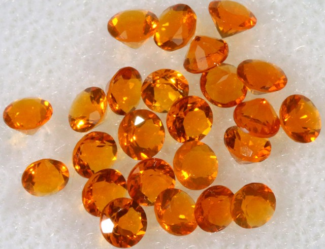 1.10 CTS  RED MEXICAN FIRE OPAL PARCELS -FACETED-TOP POLISH. [VS7597]