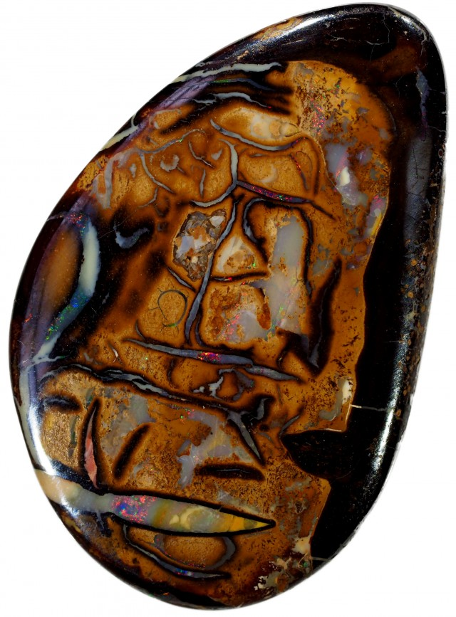 12.45 CTS WELL POLISHED BOULDER OPAL [BMS46]