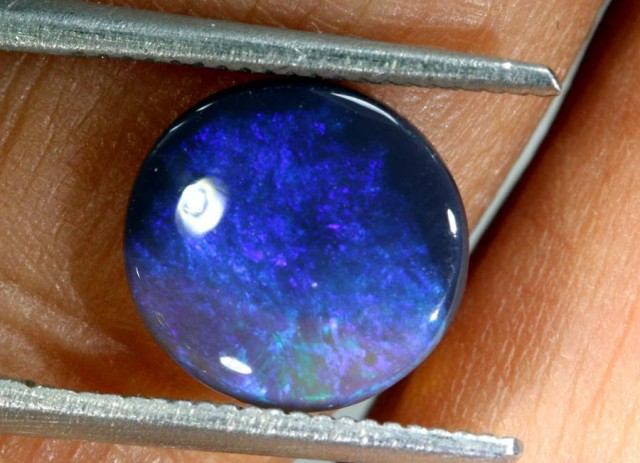 N2  -  1.30CTS BLACK SOLID OPAL STONE  TBO-