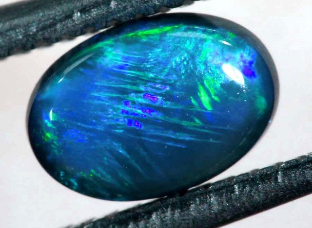 N4  -  0.40CTS BLACK SOLID OPAL STONE  TBO-6345