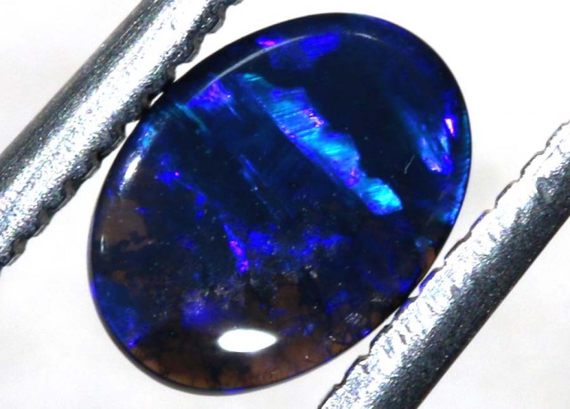 N1  -  0.40CTS BLACK SOLID OPAL STONE  TBO-6375