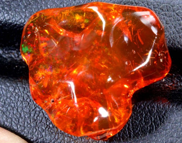 15.5 CT  Orange Polished Mexican Fire Opal INV-639