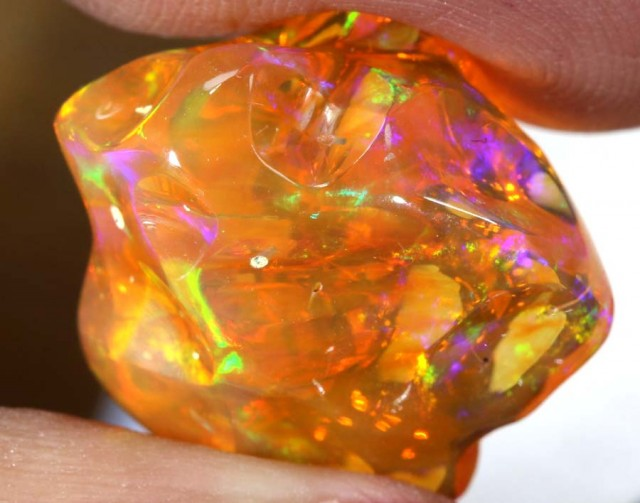 15.1 CT  Orange Polished Mexican Fire Opal INV-643