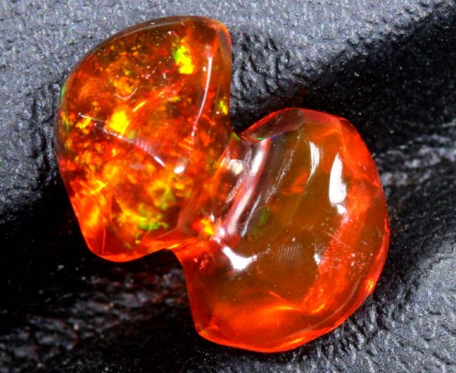 2.5 CT  Orange Polished Mexican Fire Opal INV-644