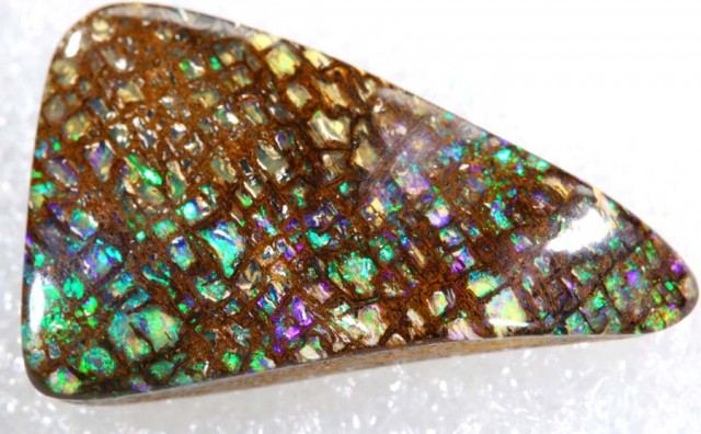 13.70CTS QUALITY  BOULDER OPAL WOOD  POLISHED STONE INV-  675 GC