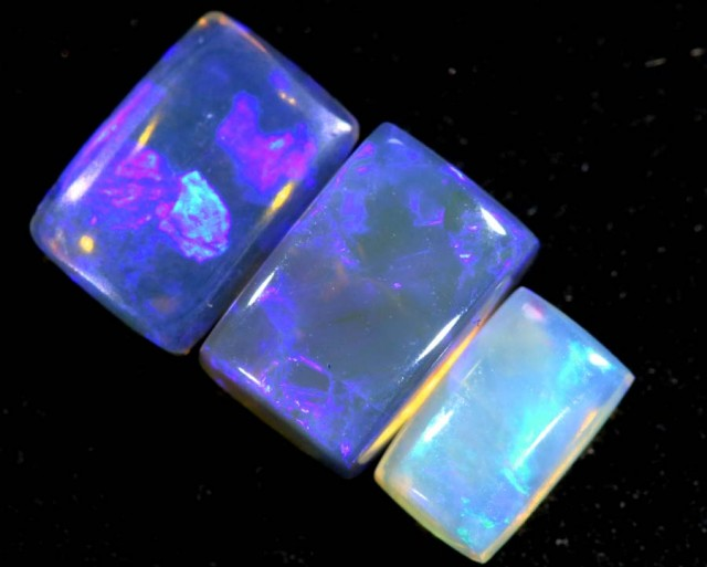 1.40CTS CRYSTAL OPAL PARCEL POLISHED 3PC TBO-6536