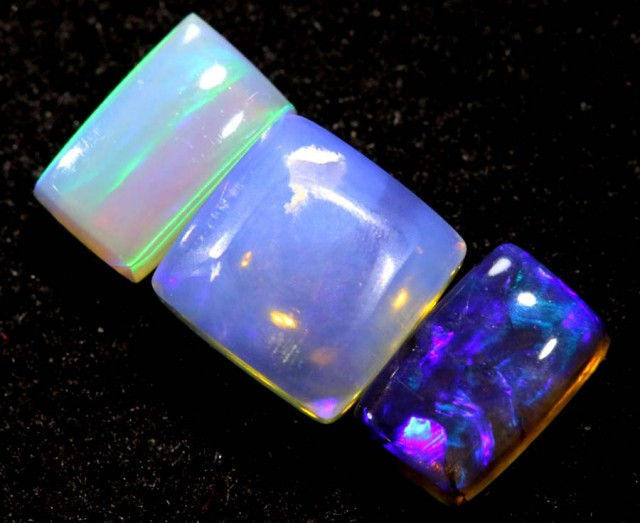 1.15CTS CRYSTAL OPAL PARCEL POLISHED 3PC TBO-6557