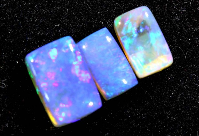 1.10CTS CRYSTAL OPAL PARCEL POLISHED 3PC TBO-6628