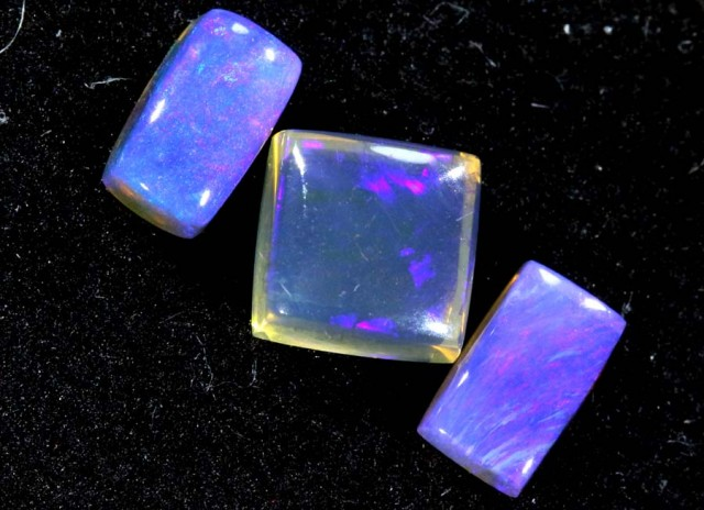 1.10CTS CRYSTAL OPAL PARCEL POLISHED 3PC TBO-6636