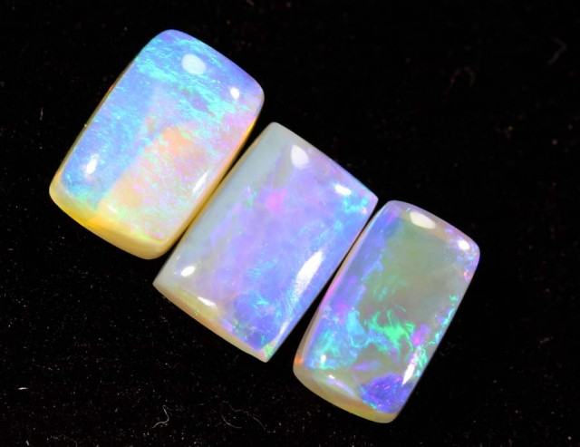 1.30CTS CRYSTAL OPAL PARCEL POLISHED 3PC TBO-6699