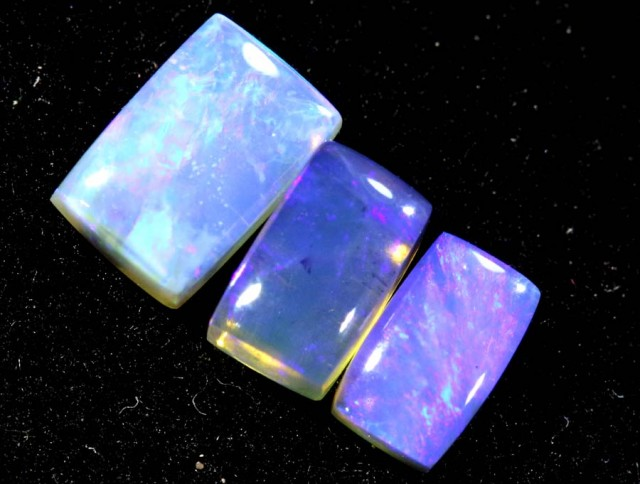 1.05CTS CRYSTAL OPAL PARCEL POLISHED 3PC TBO-7076