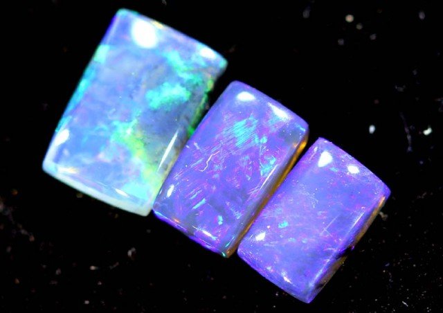 1.00CTS CRYSTAL OPAL PARCEL POLISHED 3PC TBO-6707