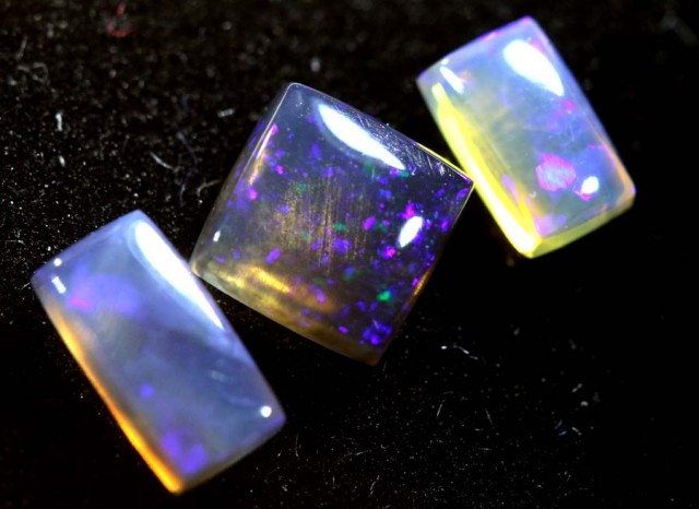 1.10CTS CRYSTAL OPAL PARCEL POLISHED 3PC TBO-6734