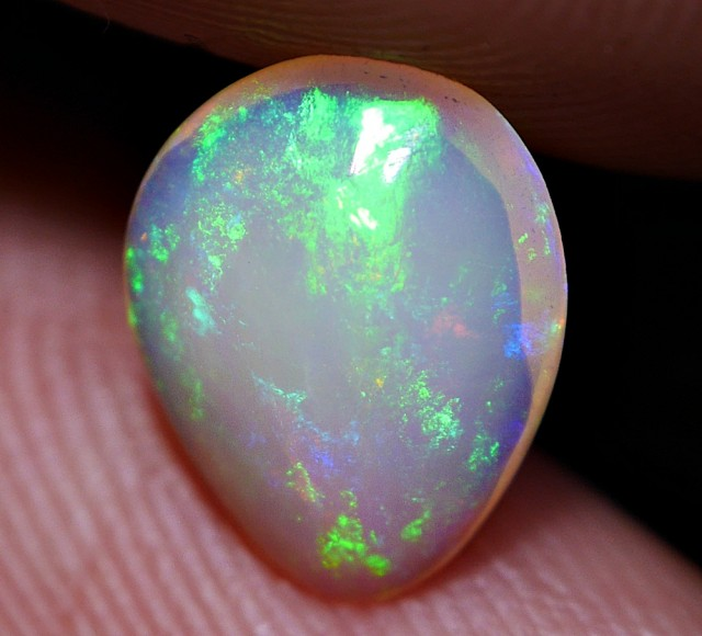 0.80 CRT LOVELY CRYSTAL CLEAR PATCHWORK NEON COLOR WELO OPAL