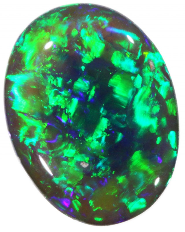3.05 CTS BLACK CRYSTAL OPAL STONE [BO228]
