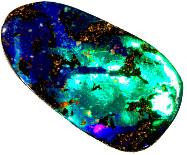 13.05 CTS  ELECTRIC FLASH BOULDER OPAL CF 920