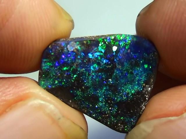 6.25 ct Beautiful Natural Blue Green Queensland Boulder Opal