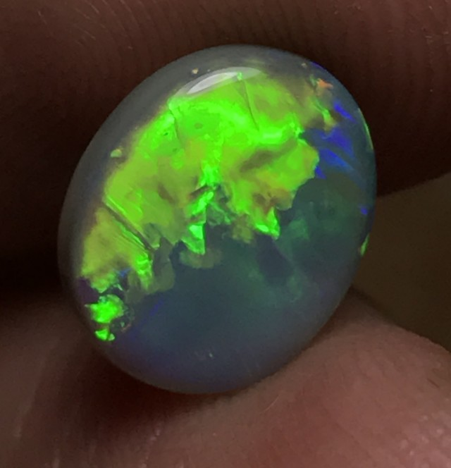 2.22ct Lightning Ridge Gem Semi Black Opal LR221
