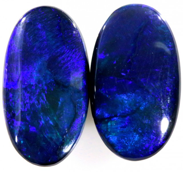 4.9 CTS PAIR BLACK OPAL STONE -WELL POLISHED [BO246]