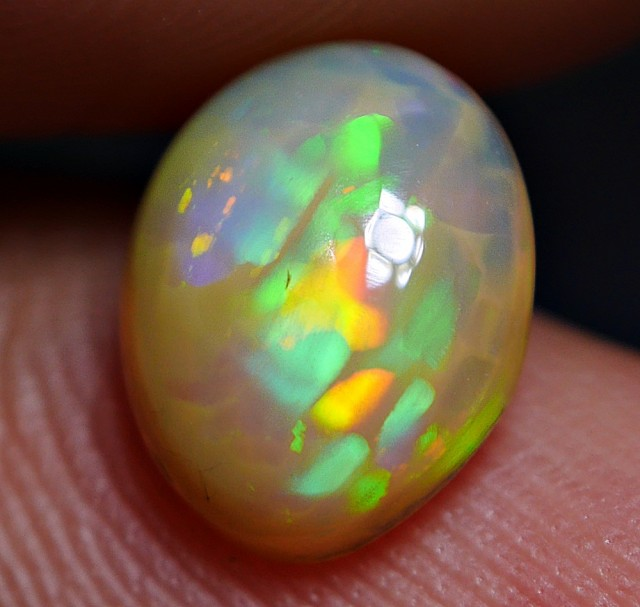 WONDERFUL COLOR UNIQUE HONEYCOMB BUBBLE PATTERN WELO OPAL 1.00 CRT