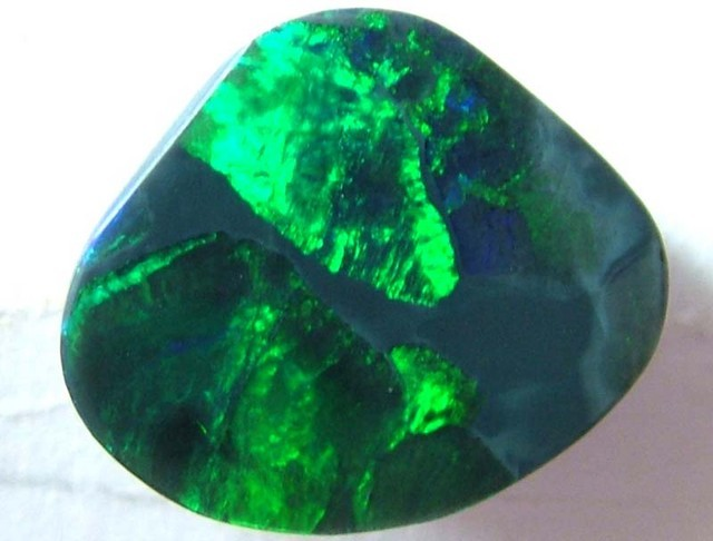 4 CTS AAA QUALITY SUPER GREEN BLACK OPAL L RIDGE INV-737
