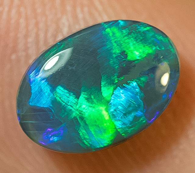BLACK OPAL LIGHTNING RIDGE NATURAL SOLID 1.43ct GEM BOPA090517