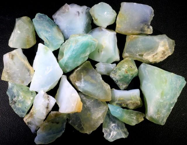 379.50 CTS BLUE PERU OPAL ROUGH PARCEL [VS7674]