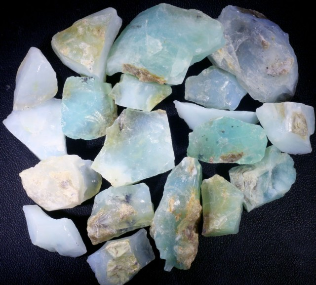456.50 CTS BLUE PERU OPAL ROUGH PARCEL [VS7675]