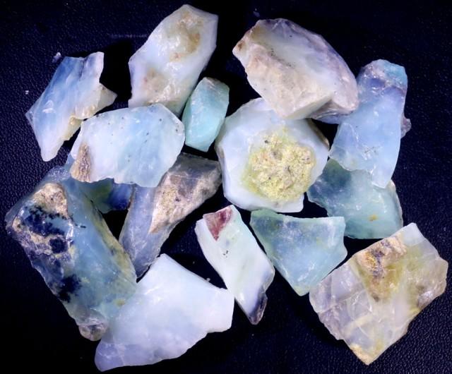 342.90 CTS BLUE PERU OPAL ROUGH PARCEL [VS7681]