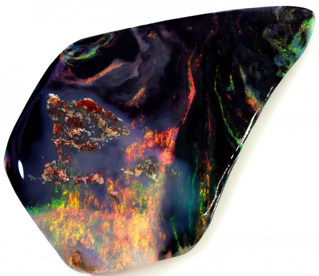 17.85 CTS BLACK OPAL ROUGH-RED/PINK [BR5304] SAFE