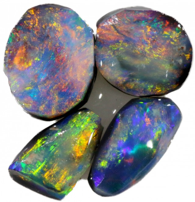 1.85 CTS PARCEL BLACK OPAL ROUGH-RED/PINK [BR5333]