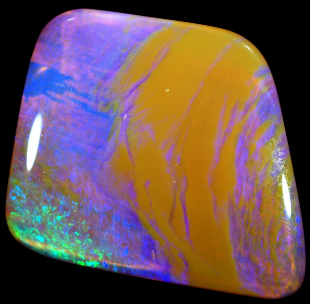 23.6 CTS 3D EFFECT PIPE BOULDER OPAL STONE [BMS95]
