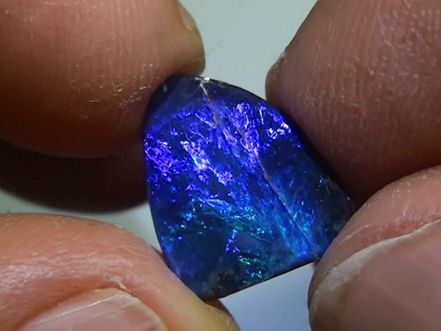4.75 ct Boulder Opal Natural Gem Blue Color