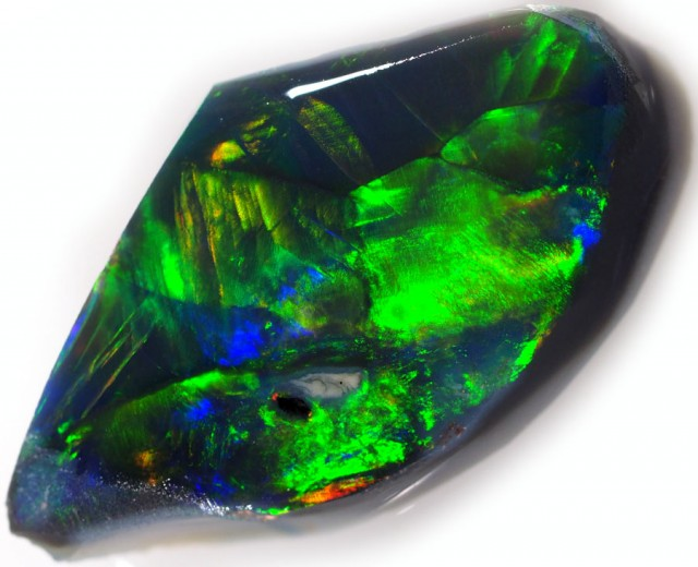 2.20 CTS BLACK  OPAL ROUGH-PRE RUBBED [BR5359]