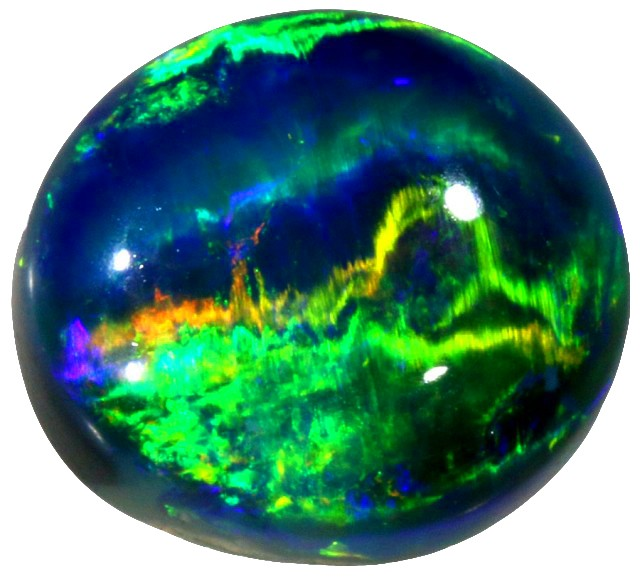 2.05 CTS BLACK OPAL STONE CATS EYE-WELL POLISHED [BO1]
