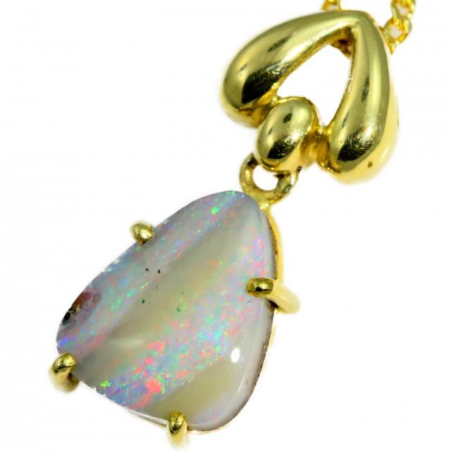 Boulder  Opal set in 18k Gold Pendant  SB665