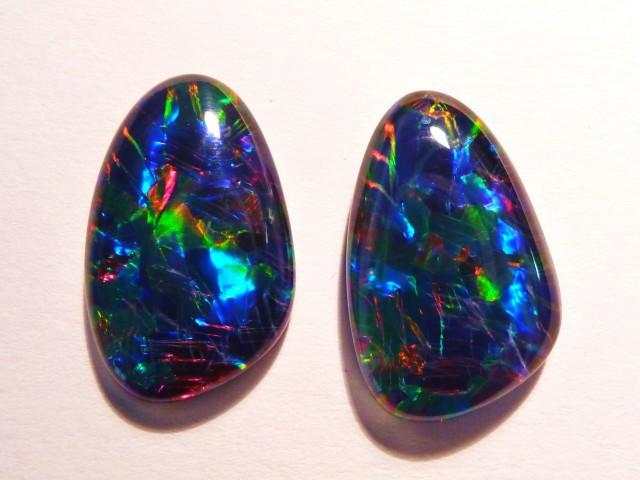 Pair of Australian Opal Triplets, Super Gem Grade