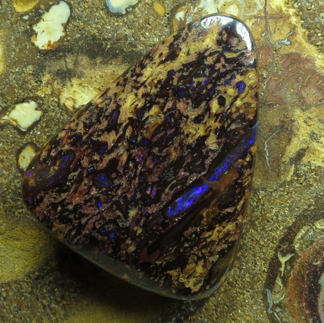 "36cts.""BOULDER MATRIX OPAL~FROM OUR MINES"""