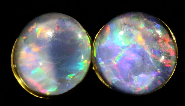 Cute Triplet Opal 18k Gold Earrings  SB 732